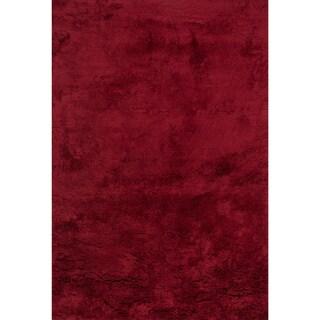 Hand-tufted Ellis Crimson Shag Rug (2'3 x 3'9)