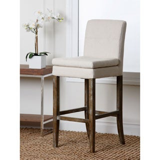Abbyson Living Colin Beige Linen Bar Stool