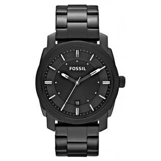Fossil Men's 'Machine' Black Stainless Steel Watch