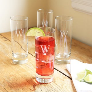 Personalized Tall Mojito Cocktail Glasses (Set of 4)