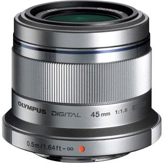 Olympus M.ZUIKO DIGITAL 45 mm f/1.8 Fixed Focal Length Lens for Micro
