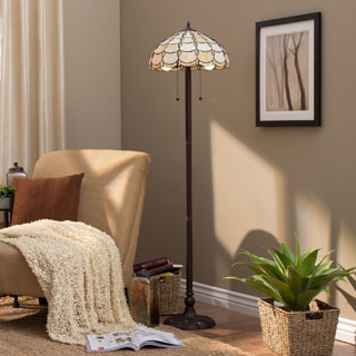 Amora Lighting Tiffany Style Cascades Floor Lamp