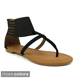 Mark & Maddux Women's 'Paul-05' Ankle-wrap Flat Sandals