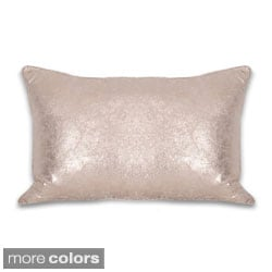 Crackle Metallic 12 x 20-inch Throw Pillow