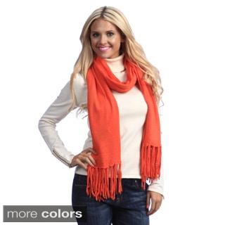 Cashmere Showroom Tassle Fringe Knit Scarf