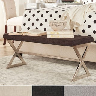 INSPIRE Q Southport Linen 40-inch Metal Bench