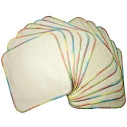 Bumkins Reusable Natural Flannel Wipes (Pack of 12)