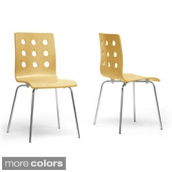 Baxton Studio Celeste Modern Dining Chairs (Set of 2)