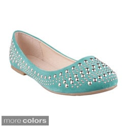 Refresh Women's 'Melany-01' Studded Ballet Flats