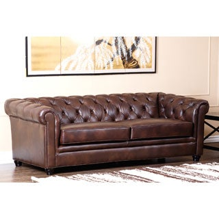 Abbyson Living Tuscan Premium Italian Leather Sofa