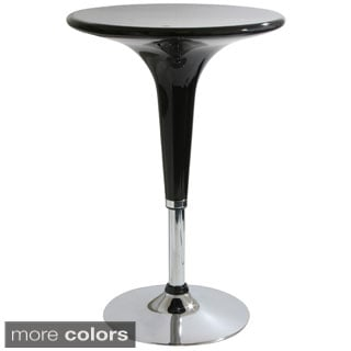 Glossy Adjustable Height ABS Plastic Bar Table
