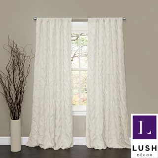 Lush Decor Lake Como Ivory 84-inch Curtain Panel
