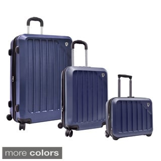Traveler's Choice Glacier 3-piece Hardside Spinner Luggage Set