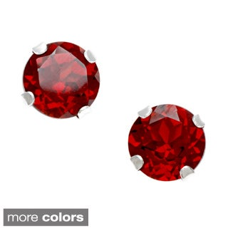 10K White Gold Gemstone Stud