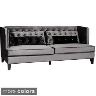 Moulin Velvet Button-tufted Sofa