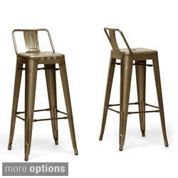 French Industrial Modern Bar Stool (Set of 2)