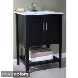 Ceramic-top 24-inch Single Sink Bathroom Vanity