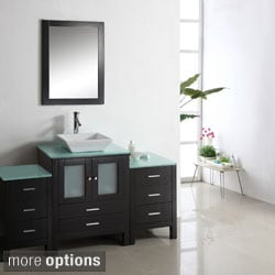 Virtu USA Brentford 71-Inch Single Sink Bathroom Vanity Set
