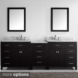 Virtu USA Caroline Parkway 93-inch Double-sink Bathroom Vanity Set