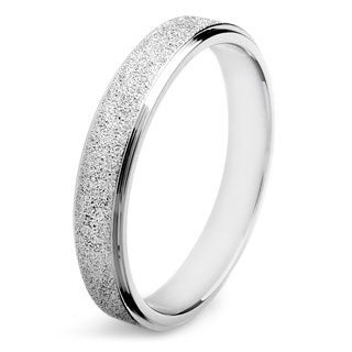 Stainless Steel Men's Sandblasted Finish Band