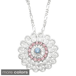 Filigree and Multi-coloredCrystal Necklace