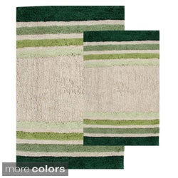Tuxedo Stripe Cotton Bath Rug Set