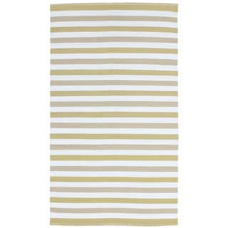 Striped Indoor/ Outdoor Reversible Patio Rug (8' x 11')