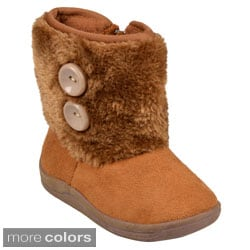 Journee Kid's 'Mosco' Faux Fur Cuff Boot
