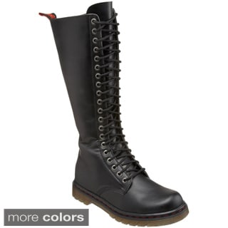 Demonia Men's 'Disorder-400' Black Lace-up Combat Boots