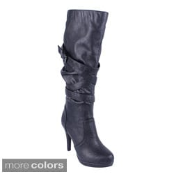DBDK Women's 'Salti-4' Slouchy Knee-high Stiletto Boots
