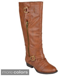 "Journee Collection Womens ""Stella' Round Toe Riding Boots"