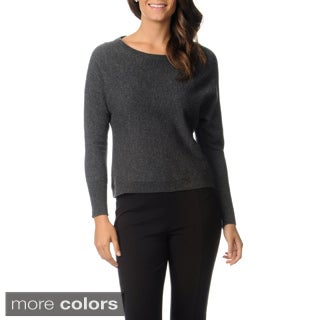Ply Cashmere Women's Long Dolman Sleeve Pullover Sweater