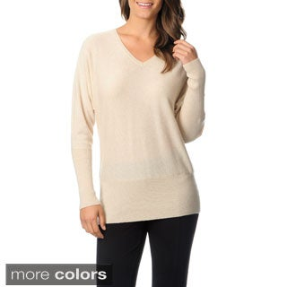 Ply Cashmere Women's V-neck Dolman Sweater