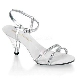 Pleaser Belle-316 Women's 3-inch stiletto Heel Ankle Strap Mini Platform Sandal
