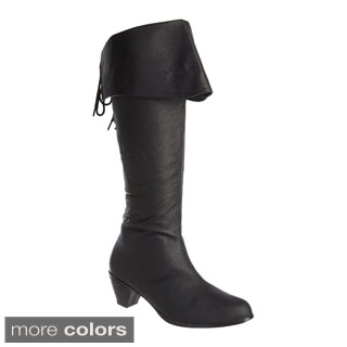 Pleaser Maiden Women's 2.5-inch Stack Heel Knee High Ladies' Pirate Boots