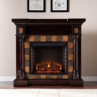 Upton Home Blanchard Espresso Convertible Electric Fireplace