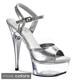 Pleaser Women's Captiva-609 Lucite Platform Sandals