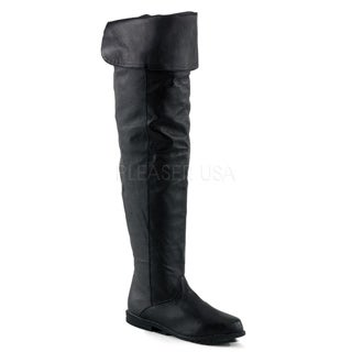 Pleaser Women's 'Raven-8826' Black Thigh-high Slouch Boots