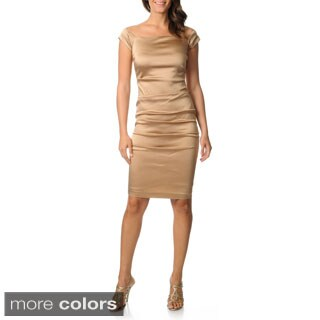 Issue New York Women's Satin Ruched Cocktail Dress