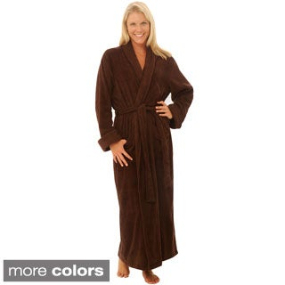 Del Rossa Women's Full Length Shawl Collar Terry Cotton Bath Robe