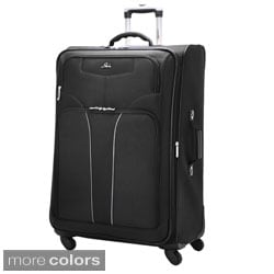 Skyway 'Sigma 4' Black 28-inch 4-wheel Spinner Expandable Upright Case