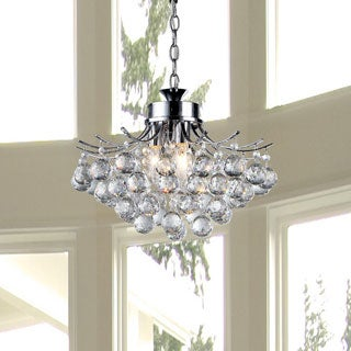 Roman Crystal 3-light Chrome Chandelier