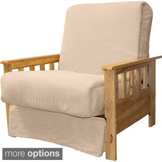 Provo Perfect Sit & Sleep Mission-Style Pillow Top Futon Child-size Chair Sleeper Bed