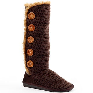 Muk Luks Malena Crochet Button Up Boot
