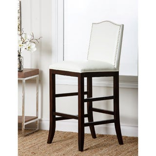 Abbyson Living Santiago Bycast Leather Nailhead-trim Barstool