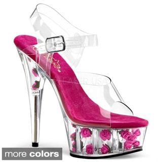 Pleaser 'Delight-608FL' Women's Platform Ankle Strap Heel