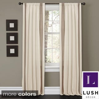 Lush Decor 'Charming Sand' 84-inch Curtain Panel Pair