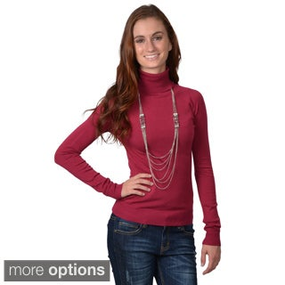 Journee Collection Womens Long-sleeve Turtle Neck Top