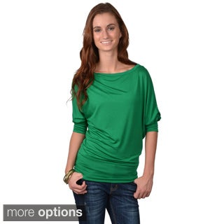 Journee Collection Juniors' Banded Dolman Sleeve Top