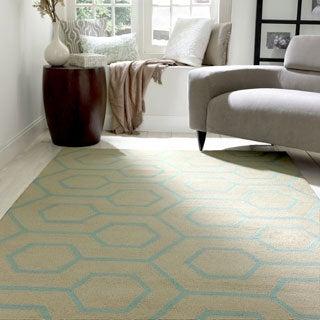 nuLOOM Handmade Modern Indoor/ Outdoor Trellis Blue Rug (9' x 12')